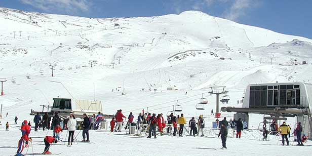 Ski resort Sierra Nevada, Andalucia Spain.