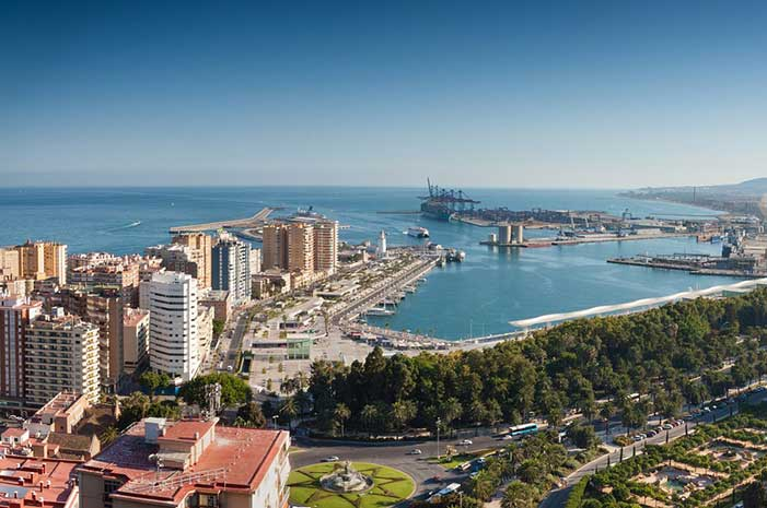 Malaga showing port