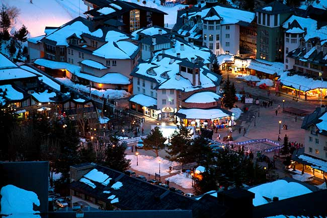 Sierra Nevada Ski resort Spain - night