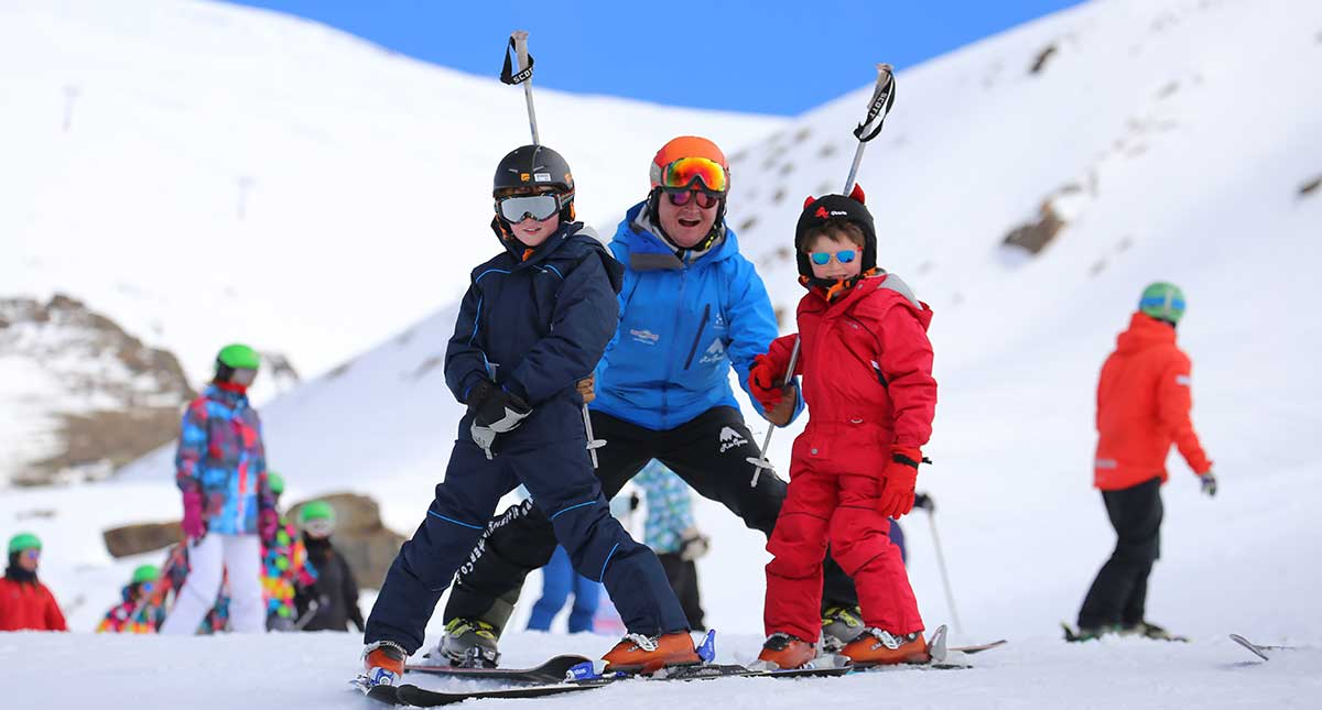 English-language ski tuition Sierra Nevada