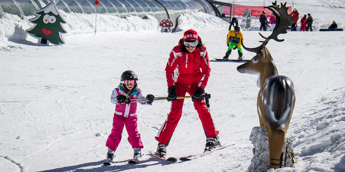 Skiing for children Sierra Nevada Spain