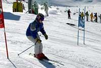 Slalom fun course Sierra Nevada ski resort