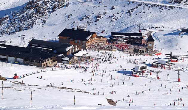 Sun and snow Sierra Nevada ski resort Spain - see snow conditions