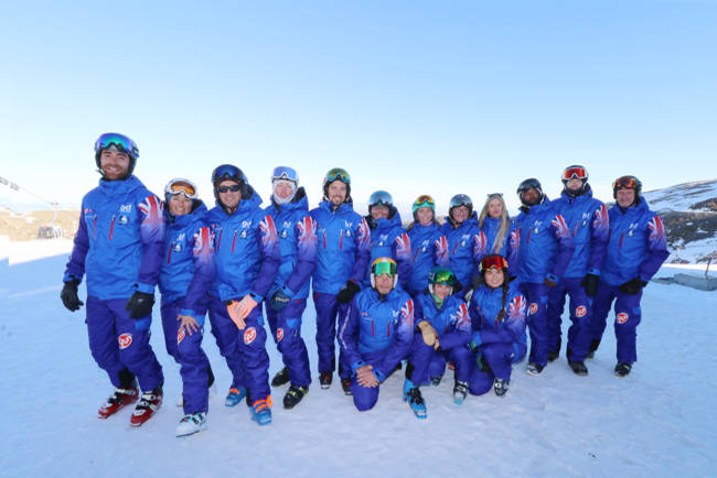 Instructors from the British Ski Centre Sierra Nevada Spain