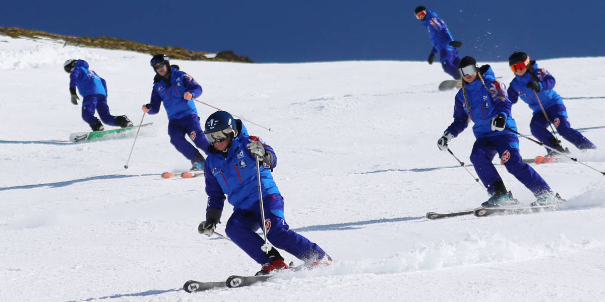 Skiing in the Sierra Nevada Granada Spain